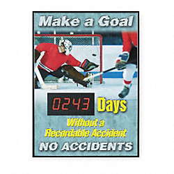 Safety Scoreboard, 28 x 20In, ENG