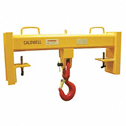 Forklift Beam, Swivel Hook, Cap 15, 000 lb