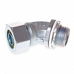 45 Deg Connector, 1.25 In, Non Insulated