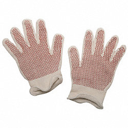Hot Mill Gloves, White/Rust, XL, PR