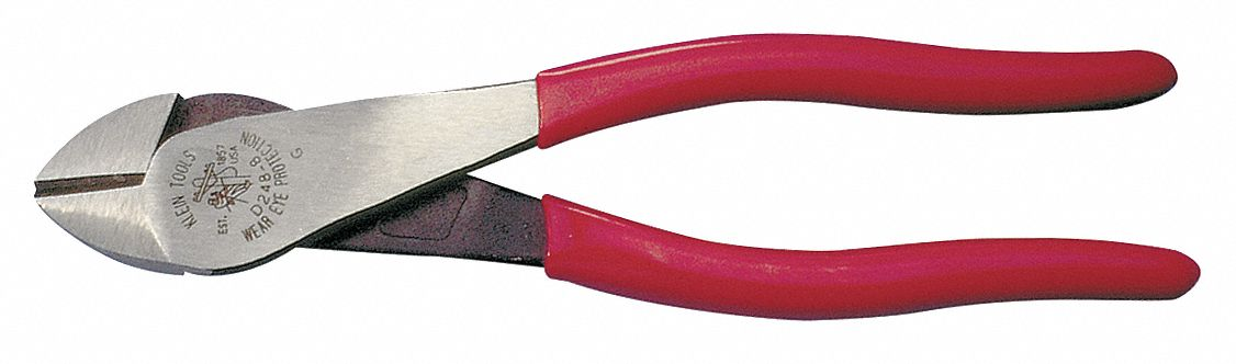 KLEIN TOOLS Diagonal Cut Plier, 8 In, HD, Angled, Bevel by Klein Tools D2000-48 at Sears.com