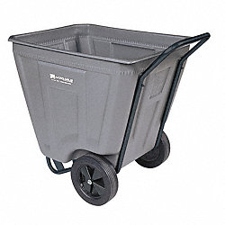 Poly Cart, Medium-Duty, 7/16 cu. yd., Gray