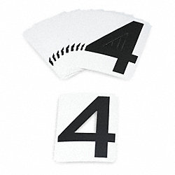 Carded Numbers and Letters, 4, PK 10