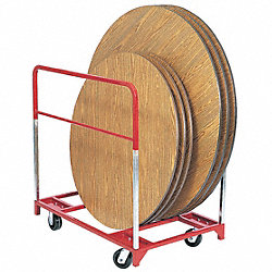 Table Mover, 1600 lb., Phenolic, Steel