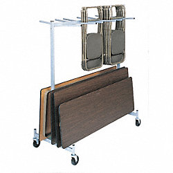 Folding Chair & Tbl Strg Cart, 800 lb.