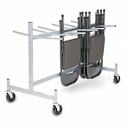 Folding Chair & Table Strg Cart, 400 lb.