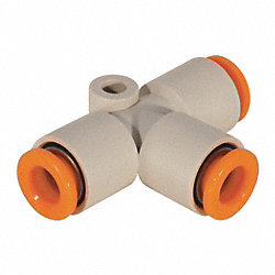 Union Tee, 3/8 In, Tube, Polybutylene