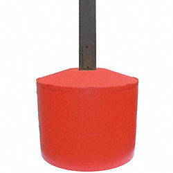 Pole Cover, 2 Ring, 6In Square, Red