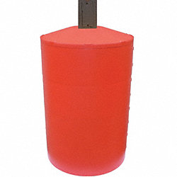 Pole Cover, 4 Ring, 5In Square, Red