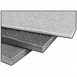 FiberPlate, Grit, Poly, Gry, 1/4 x 12 x12 In