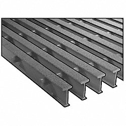 Grating, Pultruded, ISOFR, 1 In, 4 x4 Ft, Ylw
