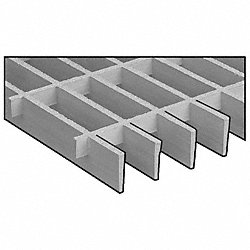 Grating, Moltruded, 1 1/2 In, 4x8 Ft, Lt Gry