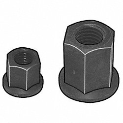 Hex Nut, Flange, ISOPLAST, 1/2-13 UNC, Right