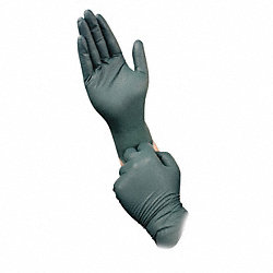 Disposable Gloves, Nitrile, M, Green, PK50