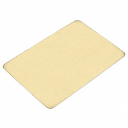 Cutting Board, Rubber, 15x20x0.50 In, Buff