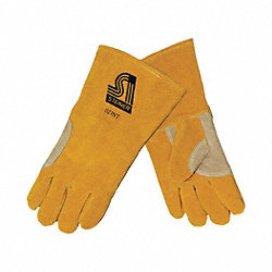 Welding Gloves, Stick, Ergonomic Offset, PR