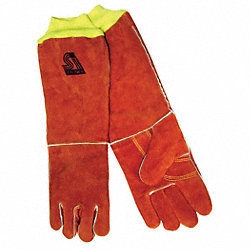 Welding Gloves, Stick, L, Wing, 18 In. L, PR