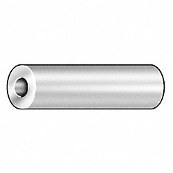 Round Spacer, SS, 1/4 In, 7/8 L, Pk 10