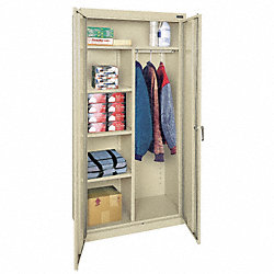 Combination Storage Cabinet, Welded, Gry