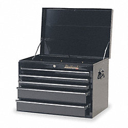 Tool Chest, 5 Dr, Blk, 27 In, Ball Bearing