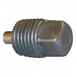 Plug, Mag, 1 In, 1.11 In L, Malleable Iron
