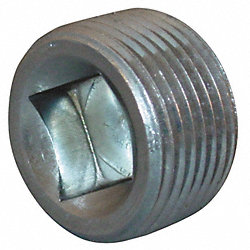 Plug, Magnetic, 1/2 In, 0.60 In L, Steel