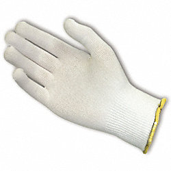 Cut Resistant Gloves, White, Reverse, L, PR