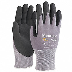 Coated Gloves, M, Black/Gray, PR