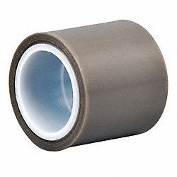 Film Tape, Skived PTFE, Gray, 12 In x 5 Yd