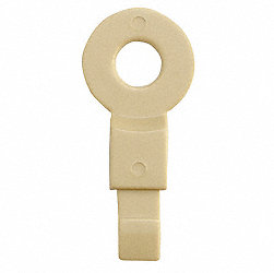 Fill Point ID Washer, 1/8 NPT, Beige, Pk 6