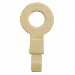 Fill Point ID Washer, 1/4 NPT, Beige, Pk 6
