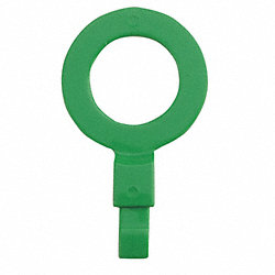 Fill Point ID Washer, 3/4 NPT, Green, Pk 6
