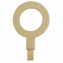 Fill Point ID Washer, 1 NPT, Beige, Pk 6