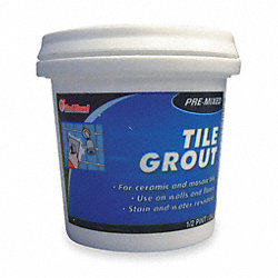 Tile Grout, Pre-Mixed Paste, 0.5 Pint Tub