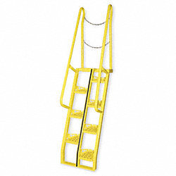 Alternating Tread Stairs, WlkThru, 10 ft.H