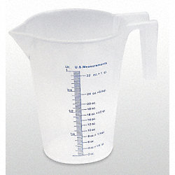 Measuring Container, Fixed Spout, 1 Quart