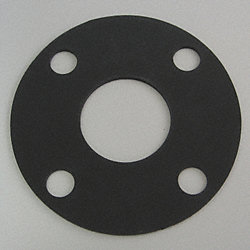 Flange Gasket, Full Face, 4 In, Viton
