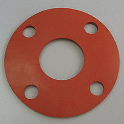 Flange Gasket, Full Face, 2.5 In, Silicone