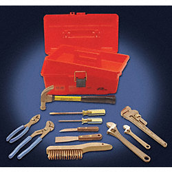 Tool Kit w/Tool Box, Nonsparking, 11 Pc