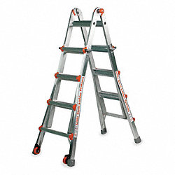 Multipurpose Ladder, 13 ft., IA, Aluminum