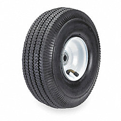 Tubed Pneumatic Wheel, 10 In, 350 lb