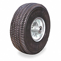 Non Flattening Wheel, 10 In Dia, 350 lb