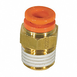 Male Connector, 1/2 x 1/2 In, Tube x NPT