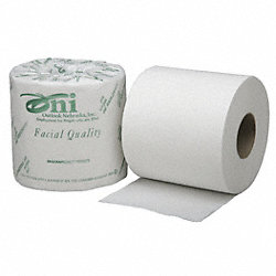 Toilet Paper, Size 4 x 4 In., White, PK 80