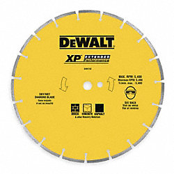 Diamond Saw Bld, Wet, Cntnus Rim, 10 In Dia