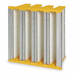 V Bank Minipleat Air Filter, 24 In. H
