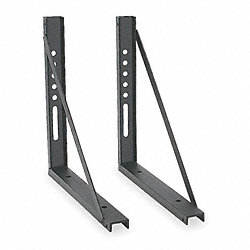 Mounting Bracket, Black, 18x18, 1PR