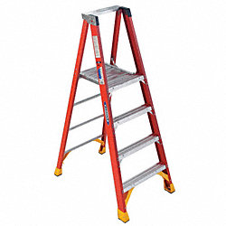 Platform Stepladder, 26-7/8 In. W, 300 lb.