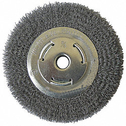 Wire Wheel, 8 In D, 0.008 Wire