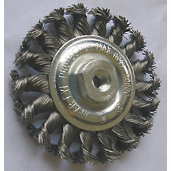 Wheel Brush, 6 In D, Steel, 0.0140 Wire